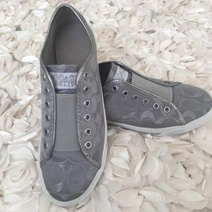 Coach bev gray silver sneakers